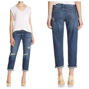 Joe's Jeans Aura Midrise Dark Wash Boyfriend Jeans